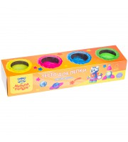 """Тесто для лепки Мульти-Пульти """"Енот на Луне"""", 04 цвета*90г, яркие цвета, картон"""