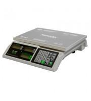 Весы торговые настольные M-ER 326AC-15.2 Slim LCD белые