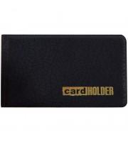 Визитница карманная OfficeSpace на 20 визиток, 65*110мм, ПВХ, черный