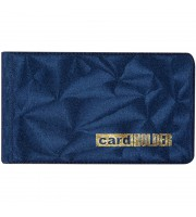 Визитница карманная OfficeSpace на 20 визиток, 65*110мм, ПВХ, синий