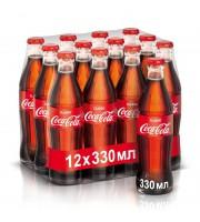 Напиток Coca-Cola газированный 0.33 л (12 штук в упаковке)
