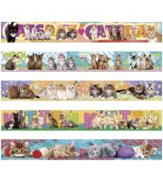 """Закладка - магнит для книг, 25*200мм, ArtSpace """"Котята"""", блестки"""