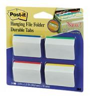 Закладки клейкие 50х38мм 3M Post-it 686A-1, 4цвx 6шт, для архивов, усиленные, пластик, неон ассорти